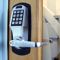 commercial lock in door